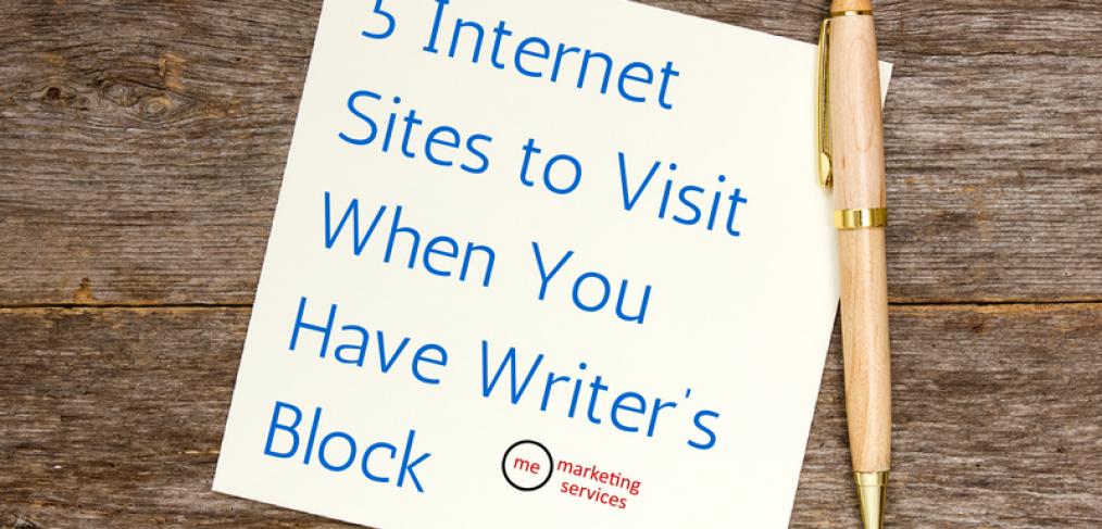 5 Internet Sites to Visit When You Have Writer's Block