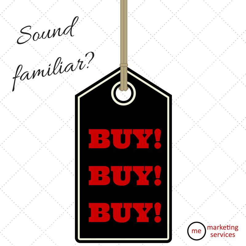 Do Your Posts Scream -Buy! Buy! Buy!--