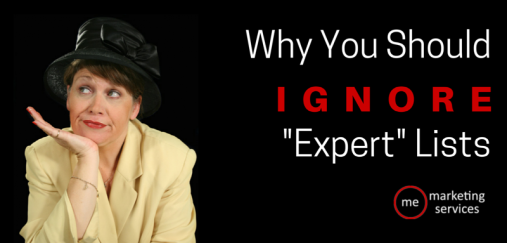 "Why You Should Ignore ""Expert"" Lists"