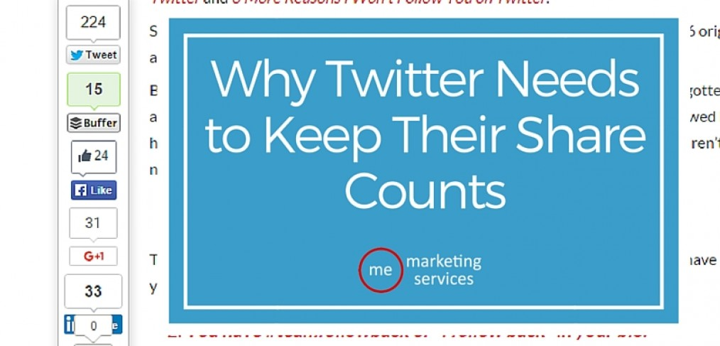 Why Twitter Needs to Keep Their Share Counts