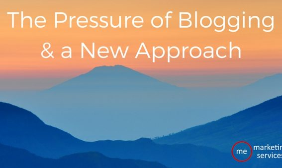 The Pressure of Blogging & a New Approach