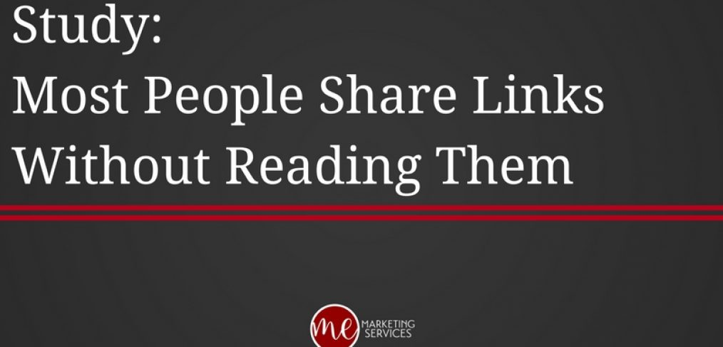 Study- Most People Share Links Without Reading Them